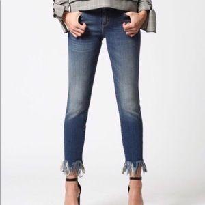 Hidden Frayed Jeans
